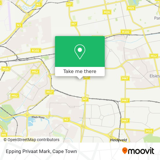 Epping Privaat Mark map