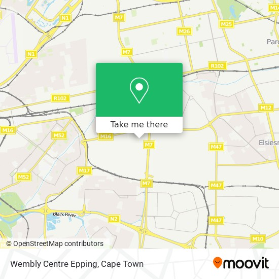 Wembly Centre Epping map