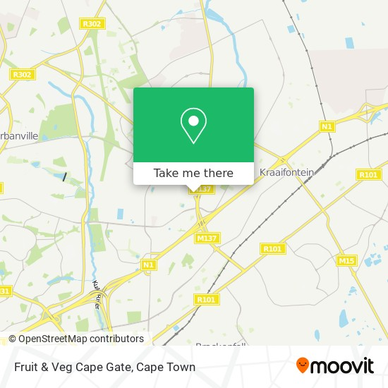 Fruit & Veg Cape Gate map