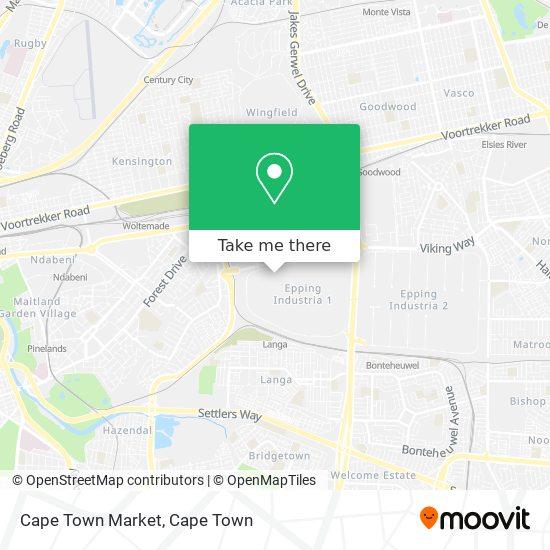 Cape Town Market map