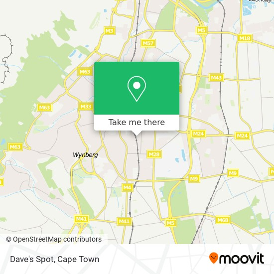 Dave's Spot map