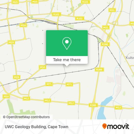 UWC Geology Building map