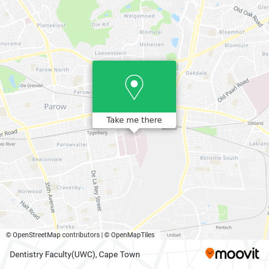 Dentistry Faculty(UWC) map
