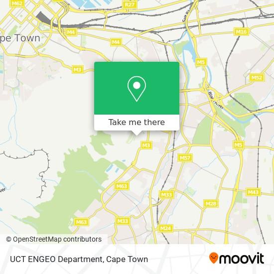 UCT ENGEO Department map