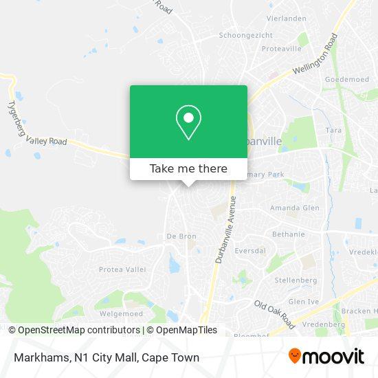 Markhams, N1 City Mall map