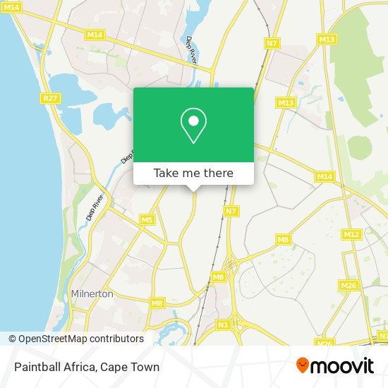 Paintball Africa map