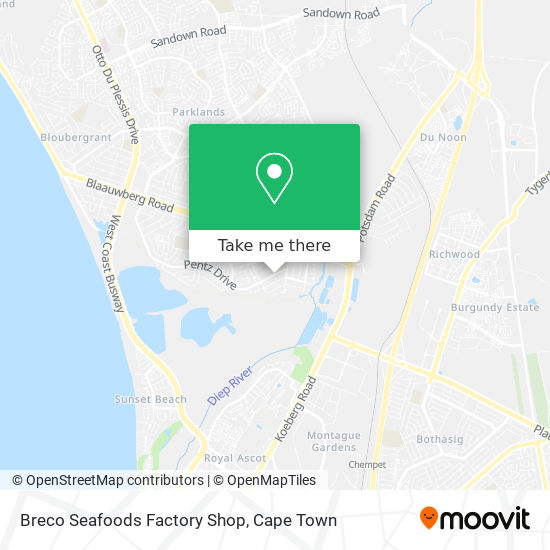 Breco Seafoods Factory Shop map