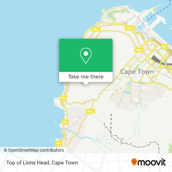 Top of Lions Head map