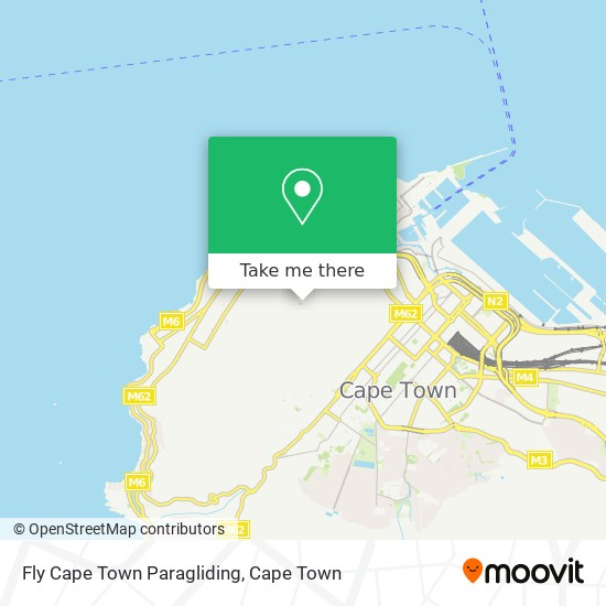 Fly Cape Town Paragliding map
