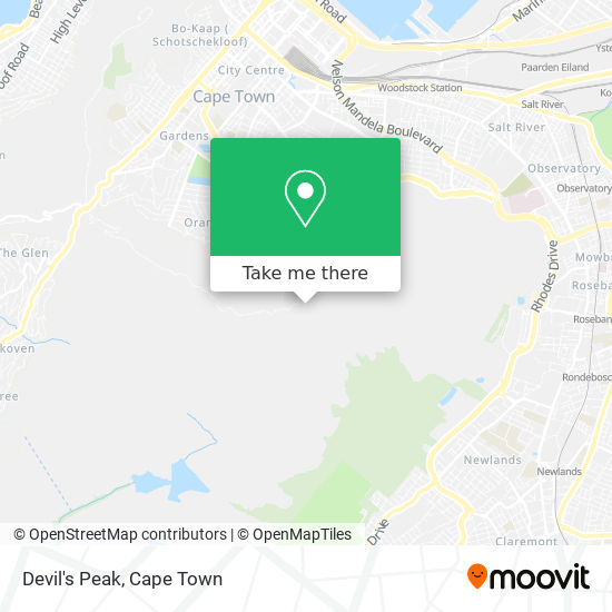 Devil's Peak map