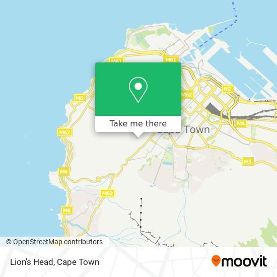 Lion's Head map