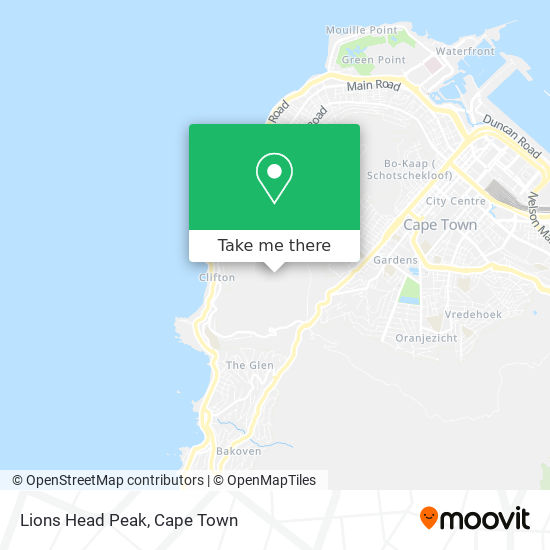 Lions Head Peak map