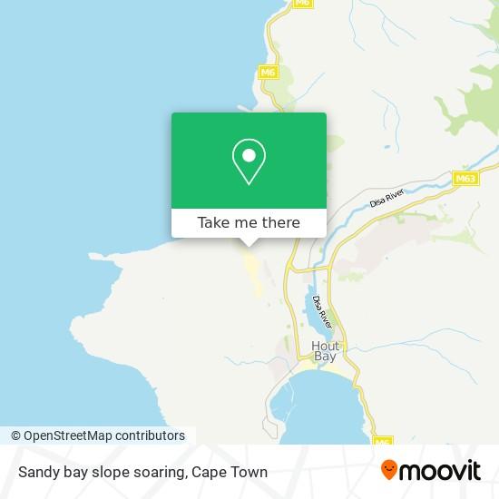 Sandy bay slope soaring map