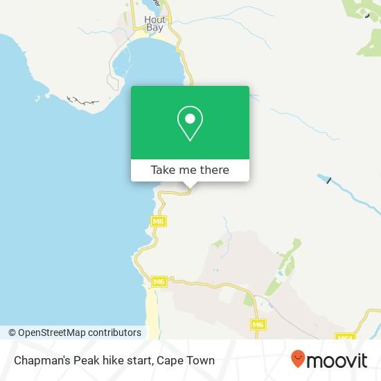 Chapman's Peak hike start map