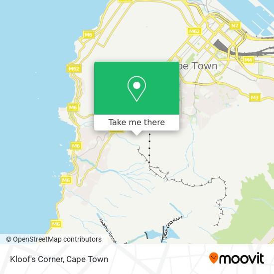 Kloof's Corner map