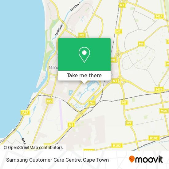 Samsung Customer Care Centre map