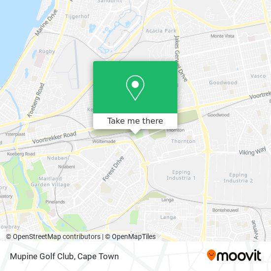Mupine Golf Club map