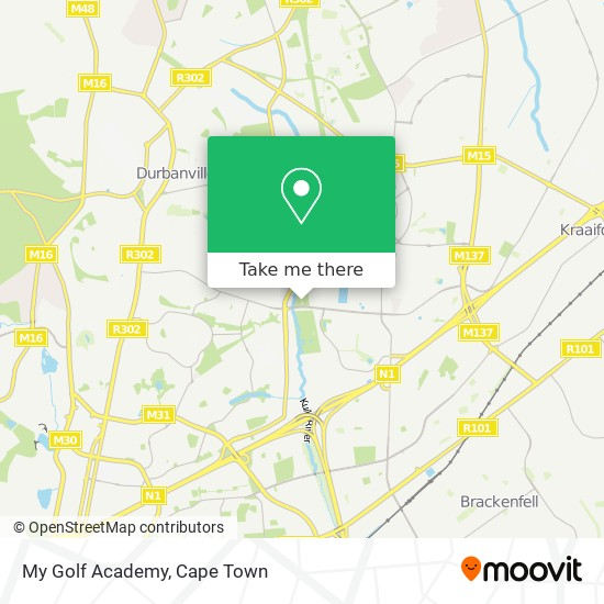 My Golf Academy map
