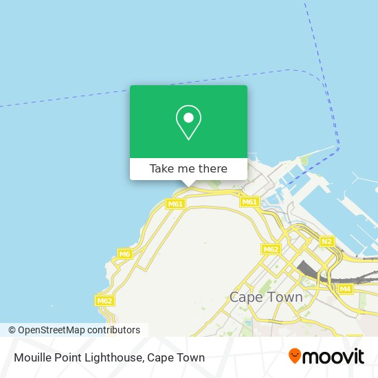 Mouille Point Lighthouse map