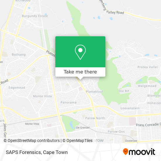 SAPS Forensics map
