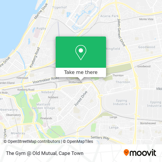 The Gym @ Old Mutual map