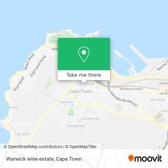 Warwick wine estate map