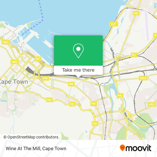 Wine At The Mill map