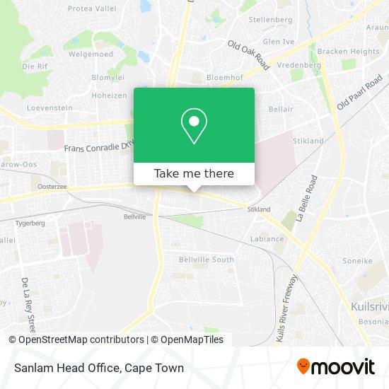 Sanlam Head Office map