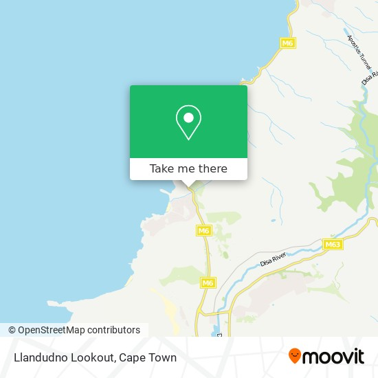 Llandudno Lookout map