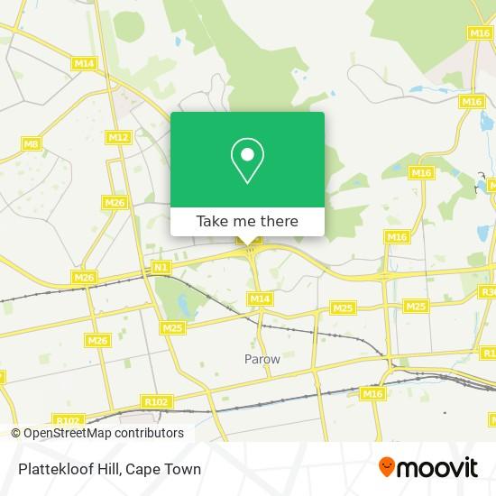 Plattekloof Hill map