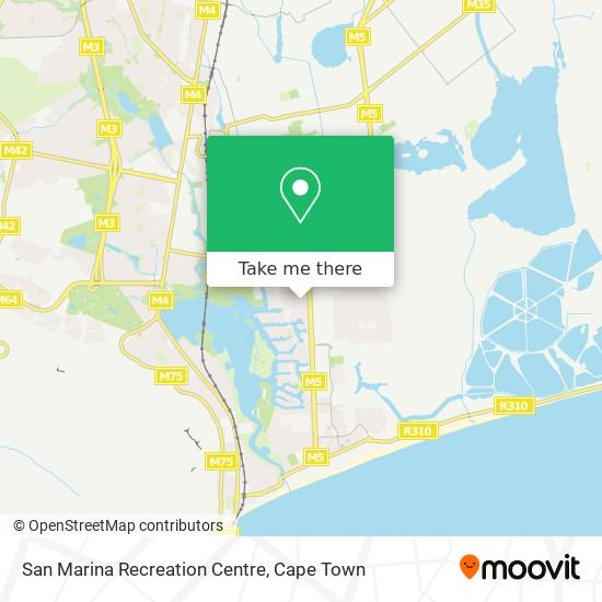 San Marina Recreation Centre map