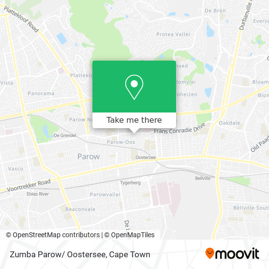 Zumba Parow/ Oostersee map