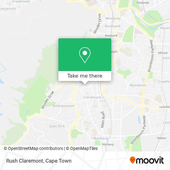 Rush Claremont map