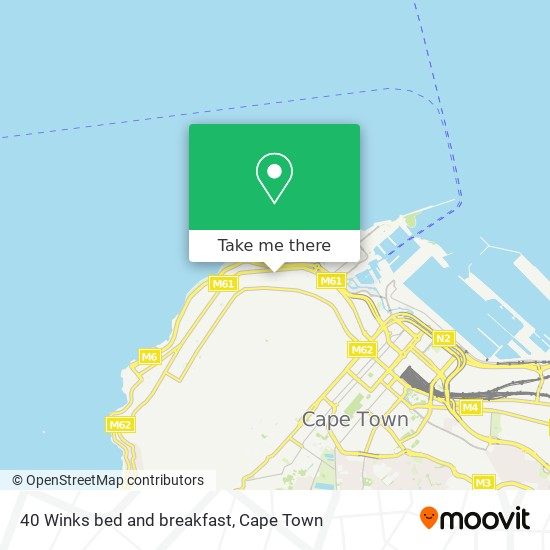 40 Winks bed and breakfast map