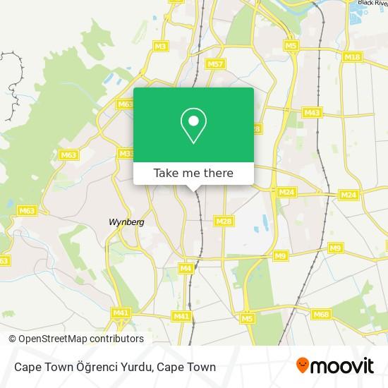 Cape Town Öğrenci Yurdu map