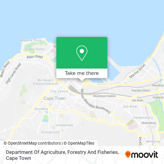 Department Of Agriculture, Forestry And Fisheries map
