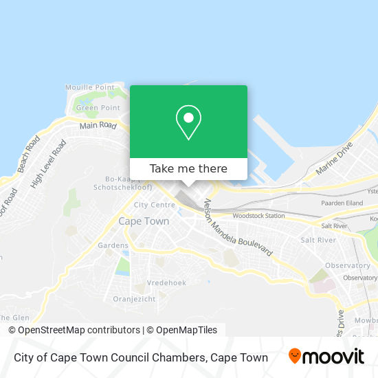City of Cape Town Council Chambers map