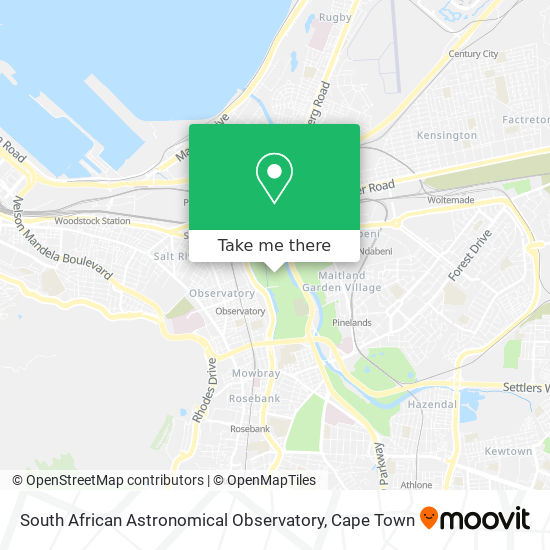 South African Astronomical Observatory map