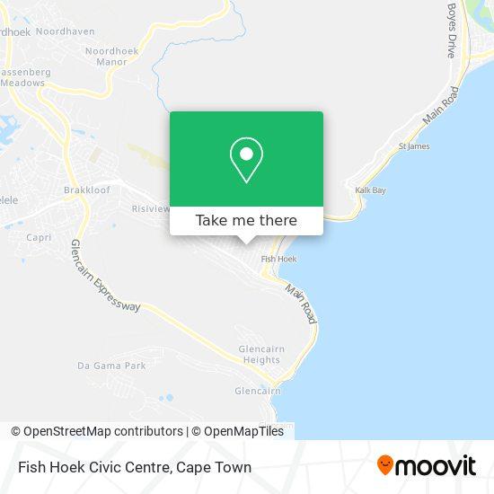 Fish Hoek Civic Centre map