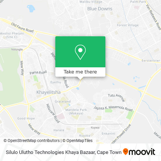 Silulo Ulutho Technologies Khaya Bazaar map