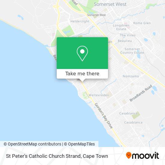 St Peter's Catholic Church Strand map