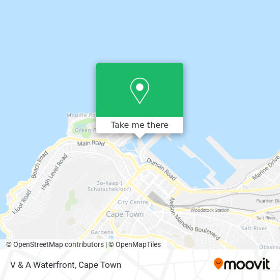 V & A Waterfront map