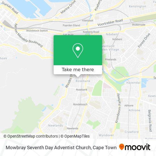 Mowbray Seventh Day Adventist Church map