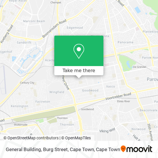 General Building, Burg Street, Cape Town map