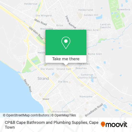 CP&B Cape Bathroom and Plumbing Supplies map