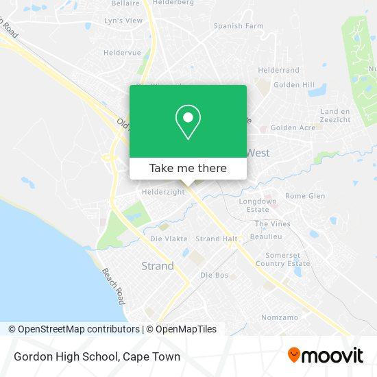 Gordon High School map
