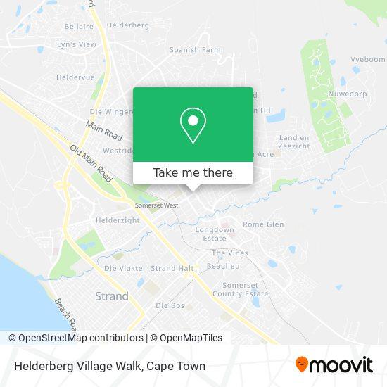 Helderberg Village Walk map