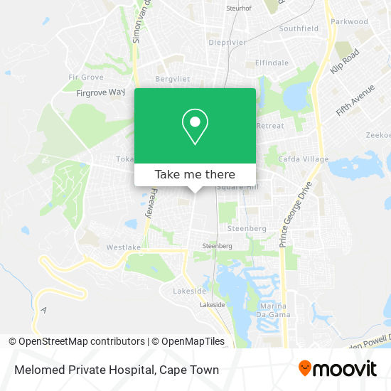 Melomed Private Hospital map