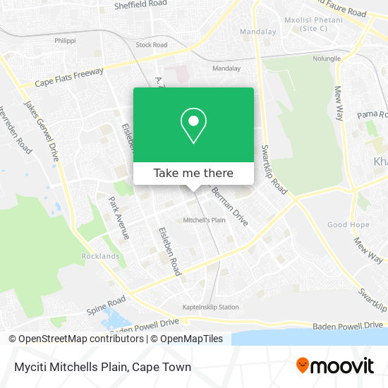 Myciti Mitchells Plain map