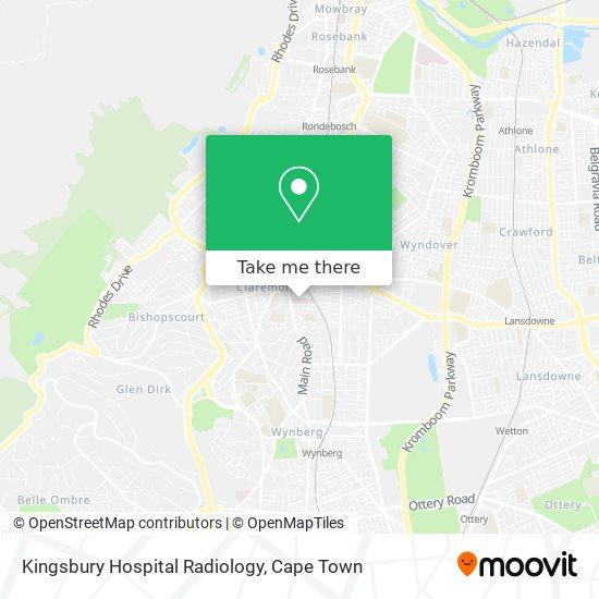 Kingsbury Hospital Radiology map